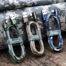 Camouflage elbow Apple data line charging data cable USB 2.4A/1.5A