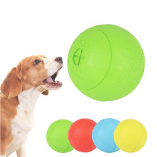 Explosive pets leaking food ball toys natural rubber bite-resistant educational toys- As seen on TV