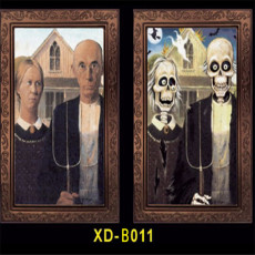 Halloween Bar Haunted House 3D Ghosts Face Change Frames Horror Decoration Items