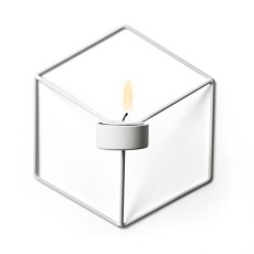 Nordic Style 3D Geometric Candlestick Metal Wall Candle Holder Sconce Matching Small Tealight Home Ornaments