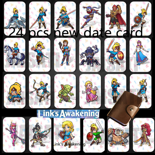 24pcs Zelda NFC Card 20 Heart Wolf Revali Mipha Daruk Urbosa For amiibo Game the Legend of Breath of the wild NS Switch