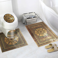 Gold-plated bathroom toilet floor sticker thickened diagonal stripes wall stickers