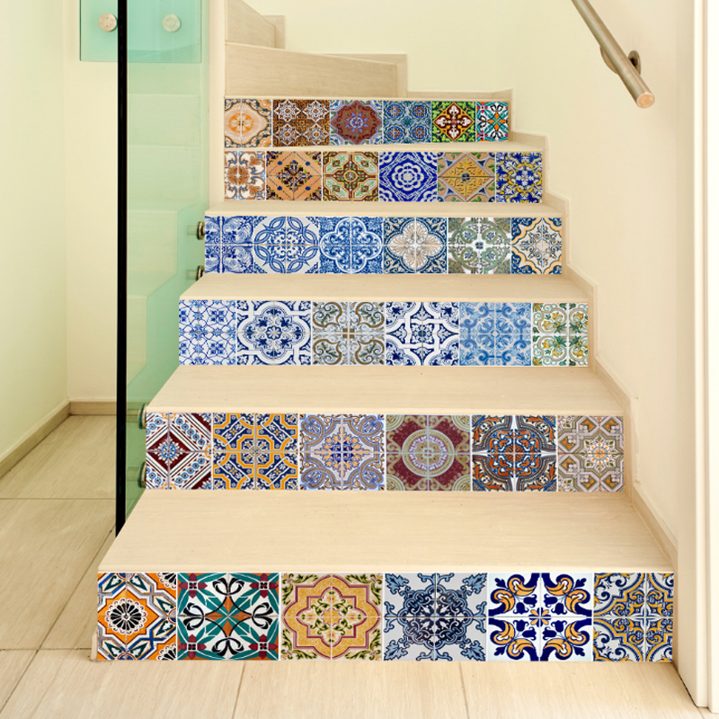Funlife 3D Wall Sticker DIY Tile Decoration Home Waterproof Stair Sticker