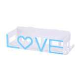Bathroom daily necessities rack love no trace&punch storage box