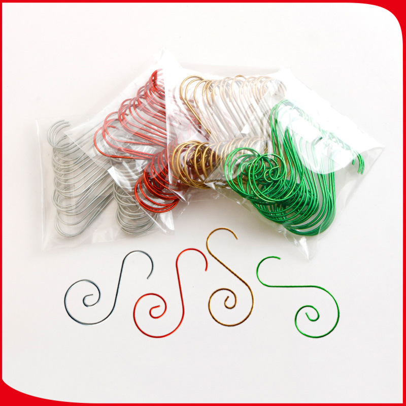 CNglam Christmas Ornaments Hooks Commodity Metal Small S Hook