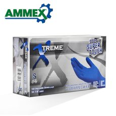 AMMEX 100Pcs Disposable Nitrile Rubber Glove Hospital Grade Latex Gloves