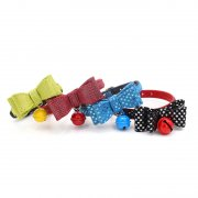 Star pattern bowknot pet collar bells dog pet supplies
