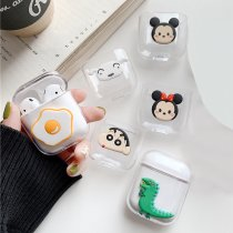 Mickey Minnie Airpods case Cute Cartoon Crayon Shinchan Airpods Earphone Protective Cover