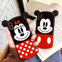 Cartoon Mickey Minnie Silicone Cell Phone Case