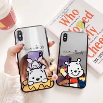 Mirror Cartoon Winnie the Pooh Cell phone Case