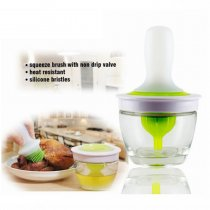 Silicone glass oil bottle with brush DIY barbecue baking tools --As seen on TV