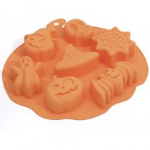 Baking Mold DIY 6 Hole Halloween Ghost Festival Pumpkin Taro Silicone Cake Mold