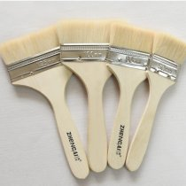 Multi-standard wool brush no lint wooden handle barbecue brush sheep paint brush