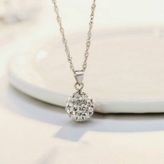 Hydrangea S925 Sterling Silver Clavicle Necklace