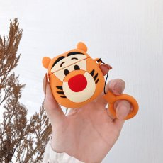 3D Tiger Apple AirPods case Cartoon lanyard Bluetooth Wireless Earphone Headphone Fuda