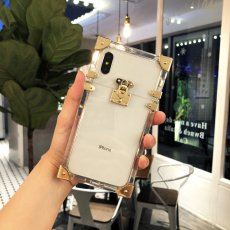 square transparent iPhone case Internet celebrity mobile tide brand luxury apple phone shell