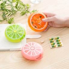 Round Rotating Fruit Pill Box Mini Week Storage Box--As seen on TV