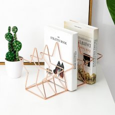 INS simple book end newspaper magazine iron bookshelf