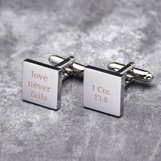 Love Never Fails Cufflinks
