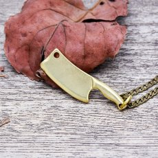 Brass Kitchen Knife Necklace