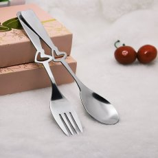 Two Hearts Spoon and Fork Set
