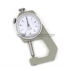 INSPECTION DIAL THICKNESS GAUGE GAGES / 0.1mm X 20mm / round measure head