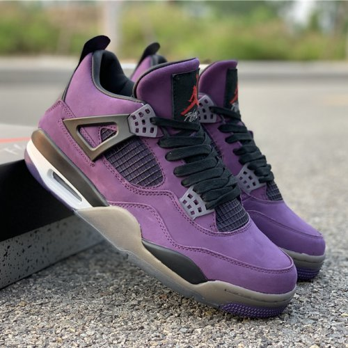 watch 6ea21 16f08 Travis Scott x Air Jordan 4 Purple Suede 40-47.5
