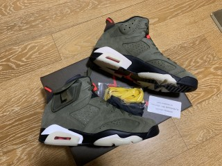 Air Jordan 6 Retro Travis Scott x (size 8-12 Retail pair,size 7.5 13 only have a1 quality)