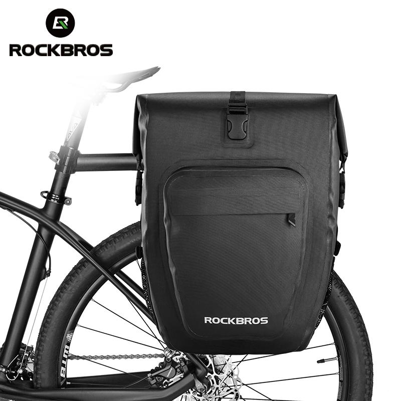 ROCKBROS Cycling Bike Handlebar Bag Folding Bike Waterproof Casual Bag Black