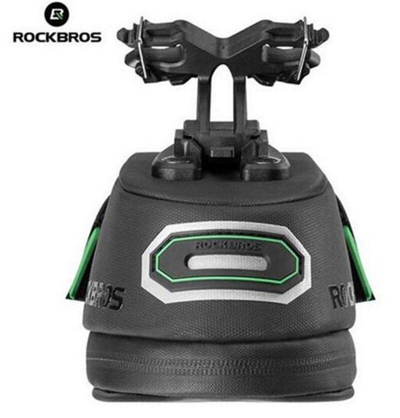 RockBros Cycling Bicycle Waterproof Bike Rear Seatpost Saddle Bag Black