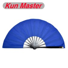 Kun Master 34 Cm  Bamboo Chinese Kung Fu Tai Chi Fan With Blue fans