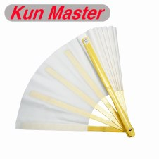 2017 Kun Master 34 Cm  Bamboo Chinese Kung Fu Tai Chi Fan White Two Sides fans