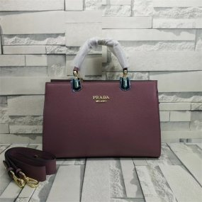 Prada bag Lavender leather business city women's bag high quality luxury