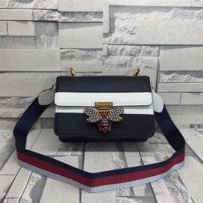 GUCCI BAG black fashion bees  buckle leather  new fashion  luxury