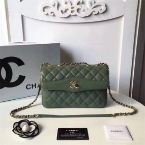 chanel bag high quality Green shoulder bag arc-shaped ladies handbag