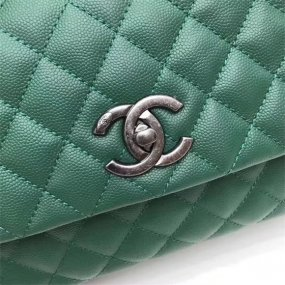 chanel bag high quality Emerald handbag original leather new