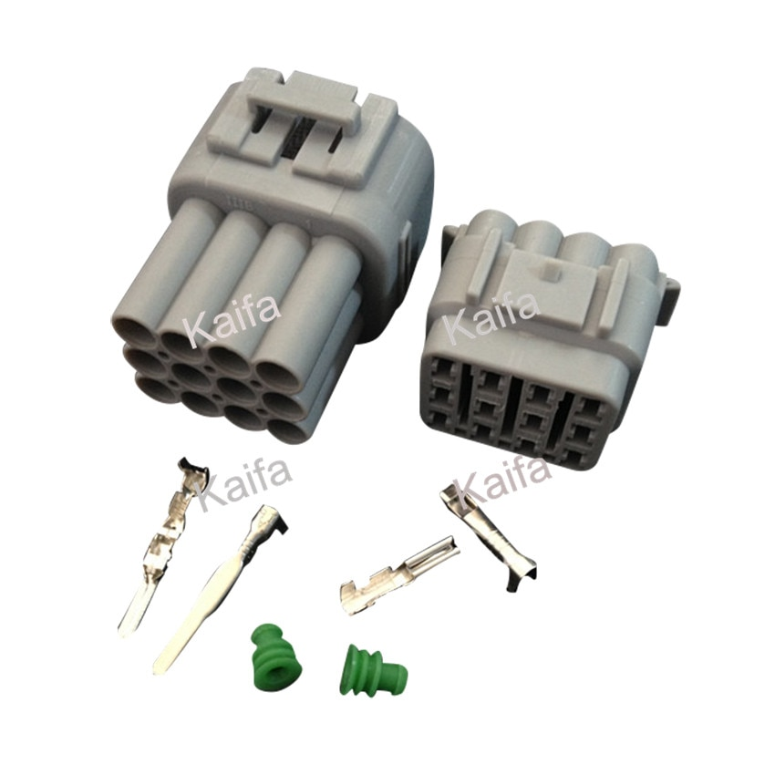 Yazaki 1 sets Kit 12 Pin Way  Waterproof Electrical Wire Connector Plug auto connectors