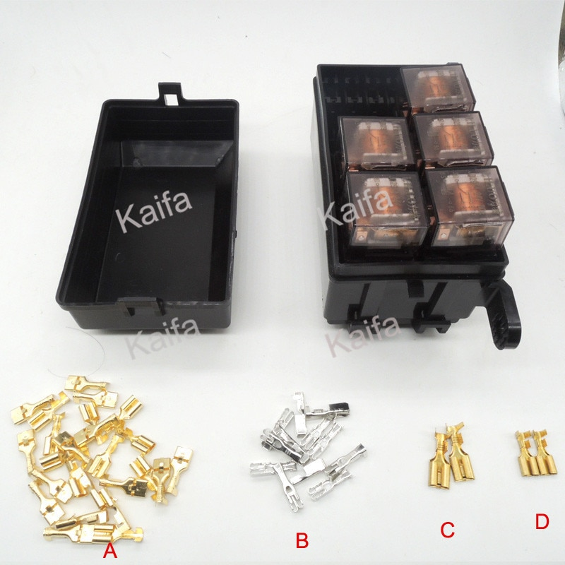 Auto fuse box 6 relay relay holder 5 road The nacelle insurance car insurance with  5 relay 24V 80A