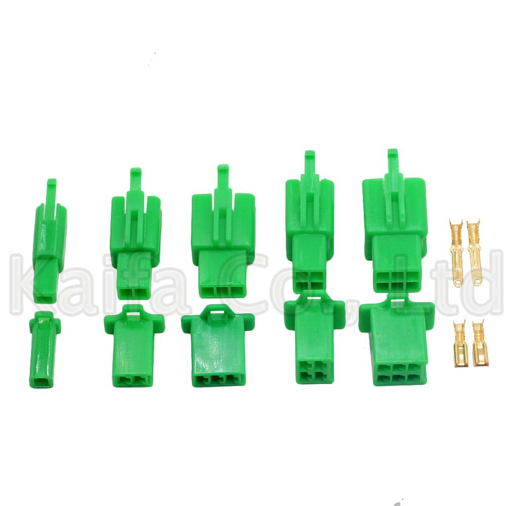 5-10 SET Green 2.8mm 1P 2P 3P 4P 6P 9P Automotive Electrical wire Connector Male Female cable terminal plug Kits Motorcycle car