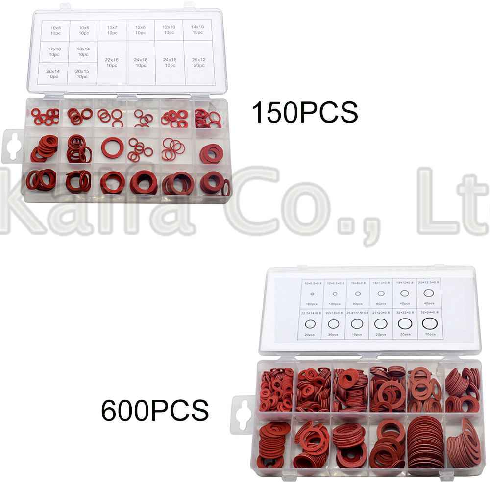 150pcs 600pcs Steel Flat Pad Insulation Washers Red Paper Meson Gasket Spacer Insulating Spacers Kit