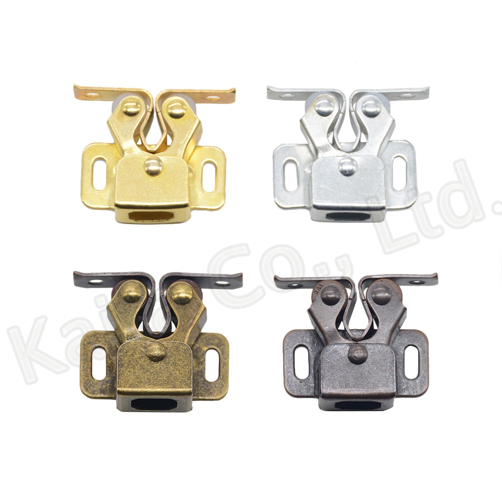 2PCS Door Stop Closer Stoppers Damper Buffer Magnet Cabinet Catches With Screws For Wardrobe Hardware Furniture Fittings