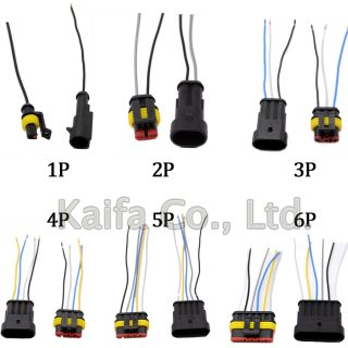 1 Sets/lots 1/2/3/4/5/6 Pin Car Waterproof Electrical Connector Plug with  Electrical Wire Cable Car auto truck wire harness