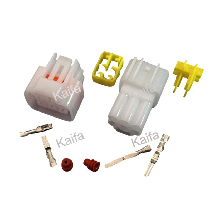 Yazaki 1 sets Kit 6 Pin Way  Waterproof Electrical Wire Connector Plug auto connectors