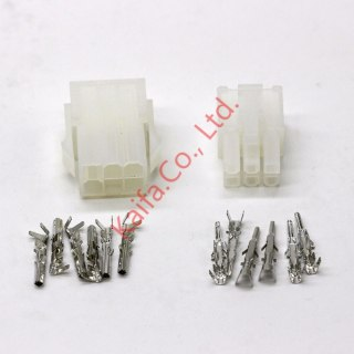 20 sets kit 6p Automobile wire connector  plug 5557 5559 plastic terminal plug spring terminals free shipping