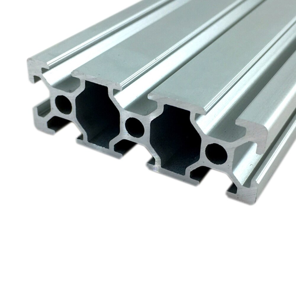 1PC 2060 Aluminum Profile Extrusion 100mm- 800mm Length European Standard Anodized Linear Rail for DIY CNC 3D Printer Workbench
