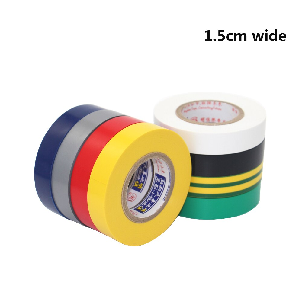 1PC 1.5CM Wide Electrical Tape Insulation Tape Waterproof PVC Electrical tape 18M Long High-temperature Tape