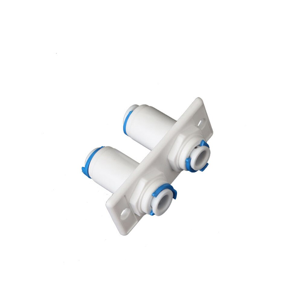 1/4  OD Hose Quick Fitting Connector RO Water Plastic Pipe Coupling Reverse Osmosis Aquarium System Double Bulkhead Straight