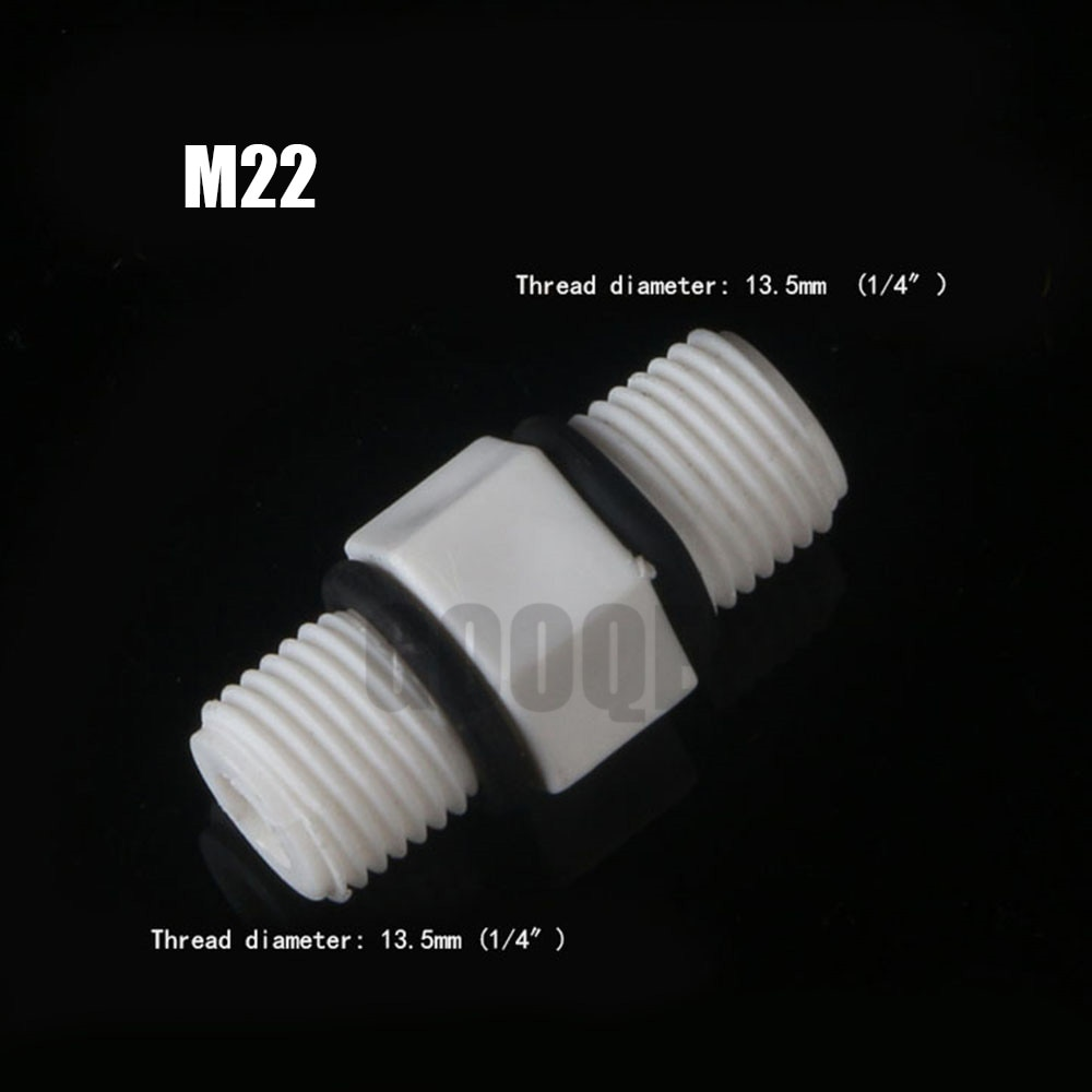 Plastic Nylon 1/4  3/8  1/2  3/4  BSP Male Thread Equal Hex Nipple Union Pipe Coupling Fitting Connector Coupler For Water Oil