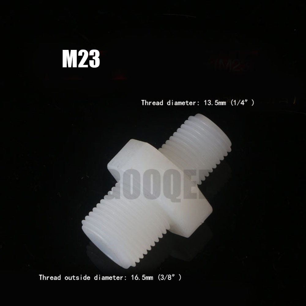 Plastic Nylon 1/4  3/8  1/2  3/4   Pipe Coupling Fitting Connector Coupler For Water Oil