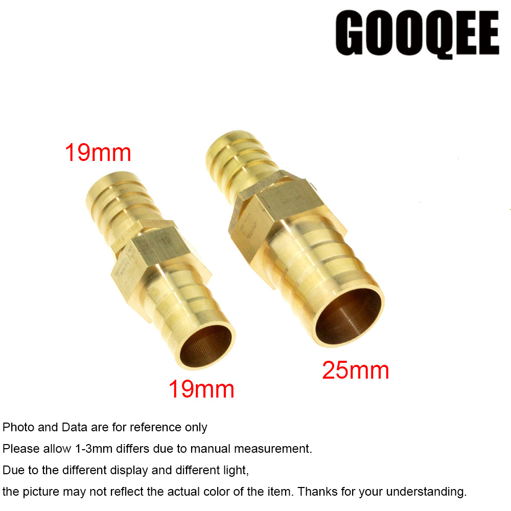 1pcs Brass Fitting 19mm Hose Barb to 19/25mm OD Hose Gas Coupler Connector Raccord Barb Reducer Copper Pipe Air Tube Adapter
